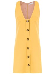 Spacenk Nk Buttoned Dress Yellow