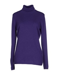 Kangra Cashmere Turtlenecks Purple