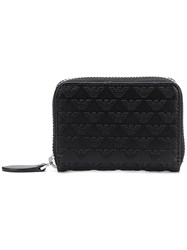 Emporio Armani Embroidered Leather Wallet Black