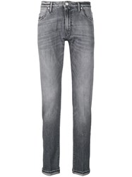 Pt05 Faded Effect Skinny Jeans Grey