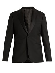 Paul Smith Single Breasted Wool Blend Blazer Black