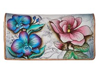 Anuschka 1095 Floral Fantasy Checkbook Wallet Yellow