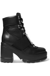 Roger Vivier Utility Embellished Leather Ankle Boots Black