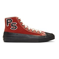 Paul Smith Ps By Red Suede Kit Sneakers