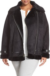Plus Size Women's Laundry By Shelli Segal Faux Shearling Moto Jacket