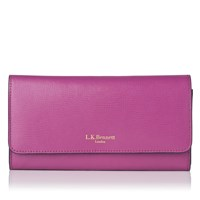 Lk Bennett Sonia Saffiano Leather Wallet Orchid