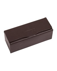 Oliver Peoples Leather Two Frame Glasses Case Purple Chocolate