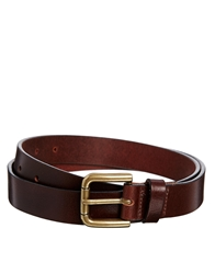 Asos Smart Full Grain Leather Belt Brown