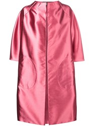 Gianluca Capannolo A Line Coat Pink