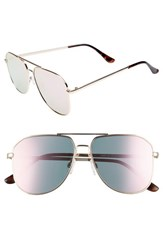 Leith 54Mm Aviator Sunglasses Gold Pink Gold Pink