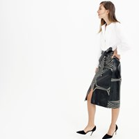 J.Crew Collection A Line Midi Skirt In Swirl Jacquard
