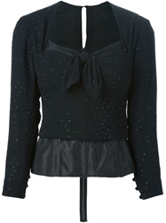 Christian Dior Vintage Sequined Top Black