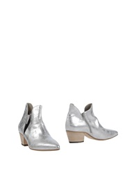 Vic Matie Vic Matie' Ankle Boots Silver