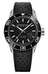 Raymond Weil Freelancer Diver Automatic Rubber Strap Watch 43Mm Black