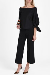 Rosetta Getty Cropped Flare Trousers Black