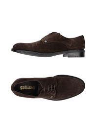 Galliano Footwear Lace Up Shoes Dark Brown