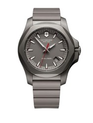 Victorinox Round Rubber Strap Analog Titanium Watch Grey