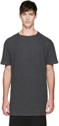Thamanyah Grey Brushed Cotton T Shirt
