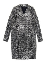Balenciaga Textured Tweed Wool Blend Coat