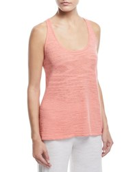 Minnie Rose Linen Blend Racerback Tank Tequila Sunrise