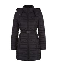 Hugo Boss Quilted Long Puffer Jacket Black