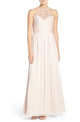 Hayley Paige Occasions Women's Lace And Chiffon Halter Gown