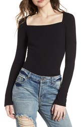 Afrm Taylor Ribbed Top Noir