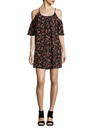 French Connection Anastasia Ditsy Floral Print Shift Dress Black Multicolor