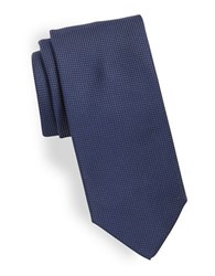 Hugo Micro Dot Silk Tie Navy