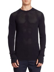 Diesel Black Gold Perforated Front Sweater Blue