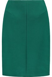 Jil Sander Cotton Blend Stretch Ponte Pencil Skirt Green