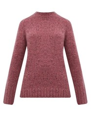 Gabriela Hearst Donegal Marled Cashmere Sweater Pink