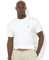 Polo Ralph Lauren Big And Tall T Shirts Pocket Tee Shirts White