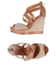 Frye Wedges Brown