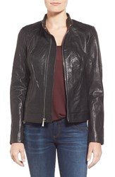 Women's 7 For All Mankind Zip Front Leather Jacket