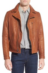 Men's Schott Nyc Lambskin Leather Biker Jacket