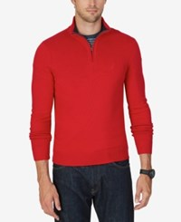 Nautica Men's Quarter Zip Sweater Nautica Red