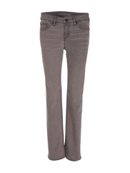 Lands' End Smoke Mid Rise Straight Leg Jeans