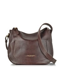 The Bridge Plume Soft Donna Dark Brown Leather Shoulder Bag
