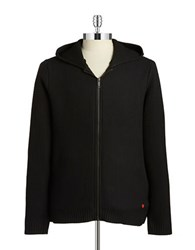 Strellson Textured Zip Up Cardigan Black