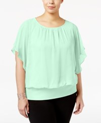 Jm Collection Plus Size Butterfly Sleeve Top Only At Macy's Classic Mint