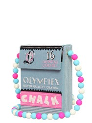 Olympia Le Tan Chalk Box Hand Embroidered Shoulder Bag