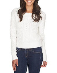 1 State Patterned Crew Sweater New Ivory