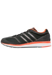 Adidas Performance Bounce Cushioned Running Shoes Core Black Iron Metallic Solar Red