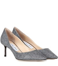 Jimmy Choo Romy 60 Metallic Pumps Silver