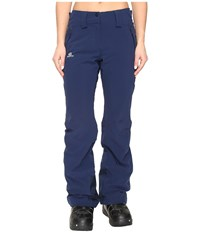Salomon Iceglory Pant Wisteria Navy Women's Casual Pants