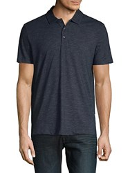 Perry Ellis Slub Short Sleeve Polo Black