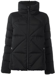Fay Quilted High Neck Puffer Jacket Black