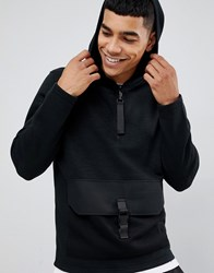 Jack And Jones Core Hoodie With Clip Pouch Pocket Black