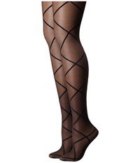Pretty Polly Sheer Diamond Tights Black Sheer Hose